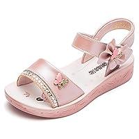 GUBARUN Open Toe Sandals Flower Glitter for Girls 8.5 M Pink