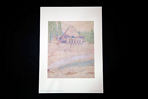 Frank Lloyd Wright (1867-1959) Lithograph Limited Edition, Numbered | Project: Cabin, Shore Type, Tahoe Summer Resort, Lake Tahoe, California, 1922 | Licensed Limited Edition by FLW Foundation, 1957 ()
