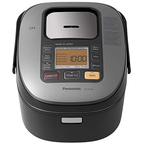 Panasonic Rice Cooker & Multi-Cooker SR-HZ106, 5-Cup (Uncooked) with Induction Heating System, Black