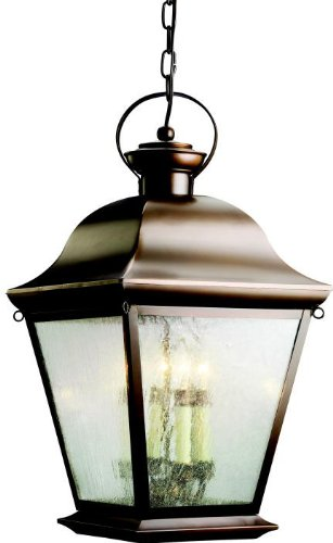 Kichler 9804OZ Mount Vernon Outdoor Pendant 4-Light, Olde Bronze