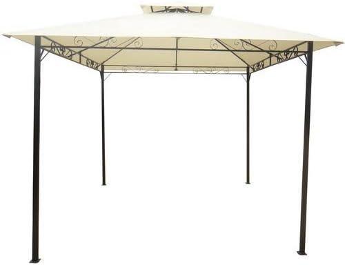 Cenador de hierro de 3 x 3 metros, estructura de metal, 40 x 40 mm, barnizado al fuego