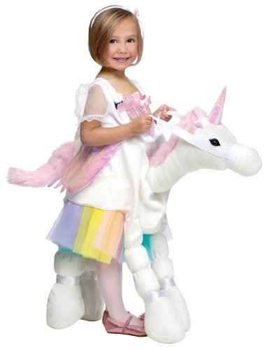Fun World Costumes Baby Girl's Ride-A-Unicorn Costume, White/Pink, One Size (Ride A Unicorn Costume)