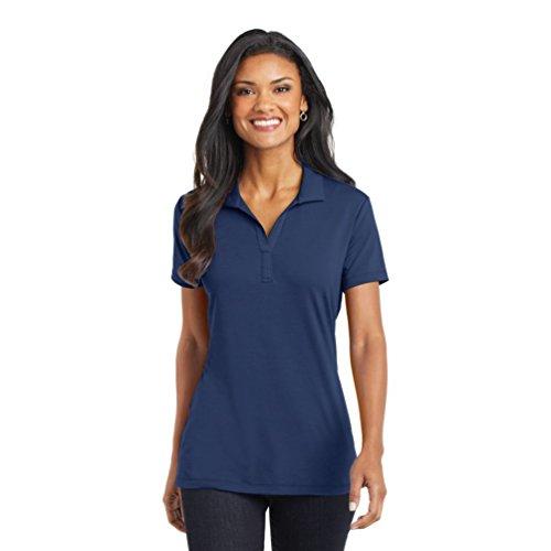 Port Authority Ladies Cotton Touch Performance Polo, Estate Blue, Large