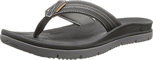 Freewaters Men's Tall Boy Flip Flop Sandal, Black, 9 M US