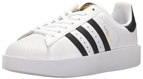 adidas Originals Women's Shoes | Superstar Bold, White/Black/Metallic Gold, (8.5 M - Leather Bold