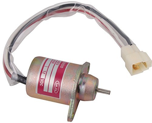 SUNCO 1503ES-12S5SUC5S Solenoid Valve 12V Fuel Shut Off Solenoid Replacement for Yanmar 119653-77950 John Kubota Takeuchi - Shut Off Solenoid Valve
