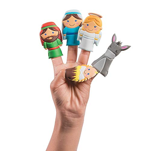 Nativity Scene Finger Puppets (10 Piece