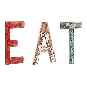 Amazon.com: Cape Craftsmen Distressed EAT Letters Wooden