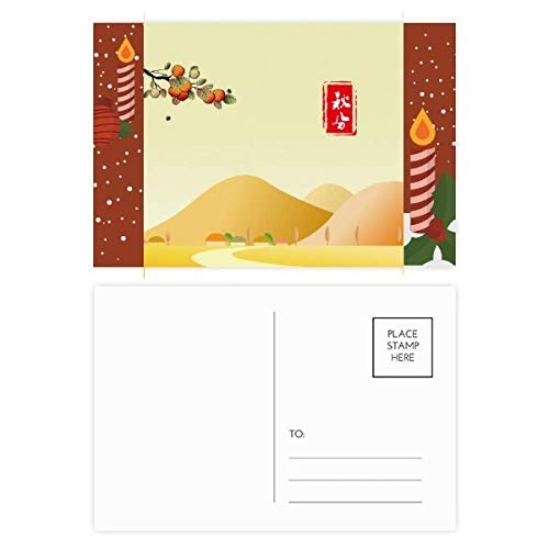 Autumnal Equinox Twenty Four Solar Term Christmas Candle Postcard Thanks Card Mailing ()