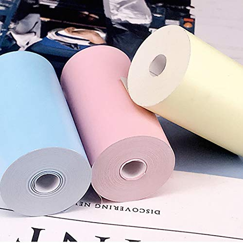 CHOULI 5 Rolls//SET 58MM Printable Sticker Paper Direct Thermal Paper Self-Adhesive pink
