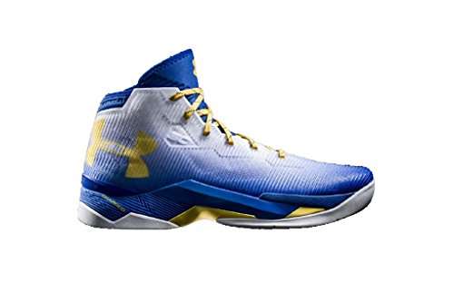 c260094a15a Galleon - Under Armour Men s UA Curry 2.5 White Team Royal Taxi Athletic  Shoe