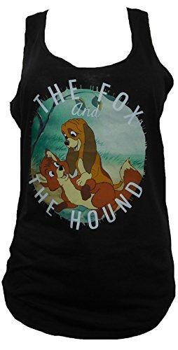 disneys-the-fox-and-the-hound-racerback-women-tanktop-black-x-large