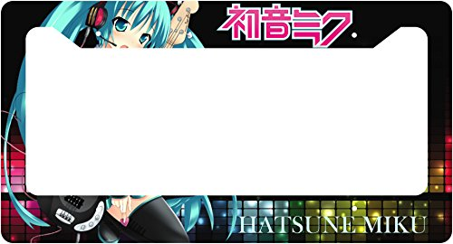 Hatsune Miku Auto Car Frame Collage License Plate Frame Aluminum (music) (Anime License Plate)