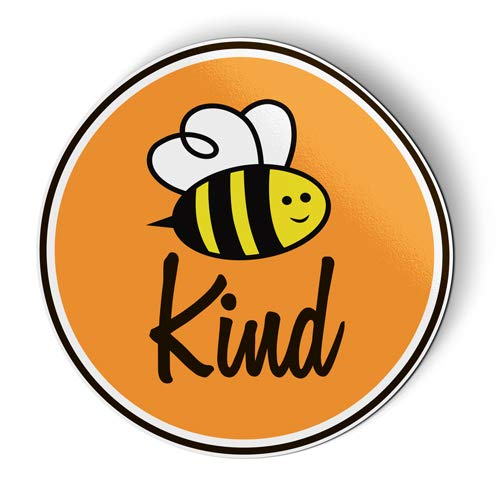 - Bee Kind Cute Be Kind Oval - Flexible Magnet - Car Fridge Locker - 5.5