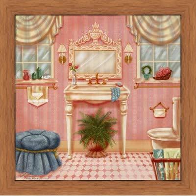 Amazon Com Framed Powder Room Iii 8x8 Inches Art Print