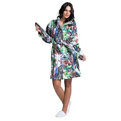 MINTEKS Luxury Bath Robe Women's Hooded Lightweight Cotton Terrycloth Spa Robes with Pocket (Small/Medium)