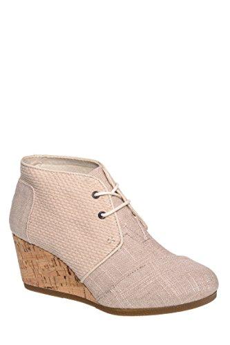 07f481b09c0 Toms Women s Desert Wedge Whisper Burlap Textured Boot 7.5 Women US ...