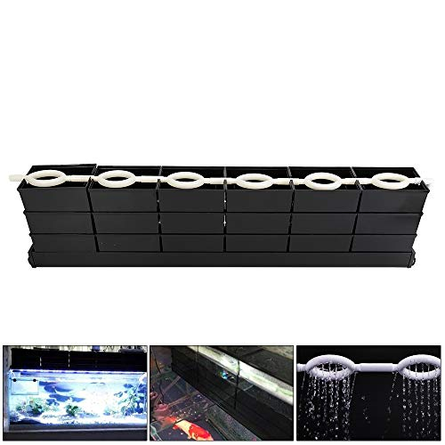 WUPYI Aquarium External Filter Fish Tank External Filter Box Aquarium Filter Fish Tank Upper Trickle Box Filters System 6-Drawer,Transparent