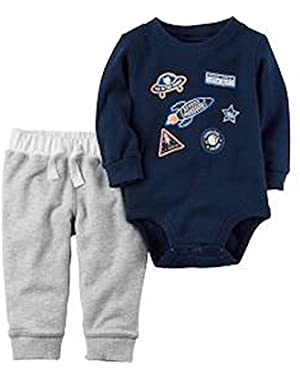 Carter's Baby Boy's 2-Pc. Beyond Awesome Space Crew Bodysuit & Pants Set