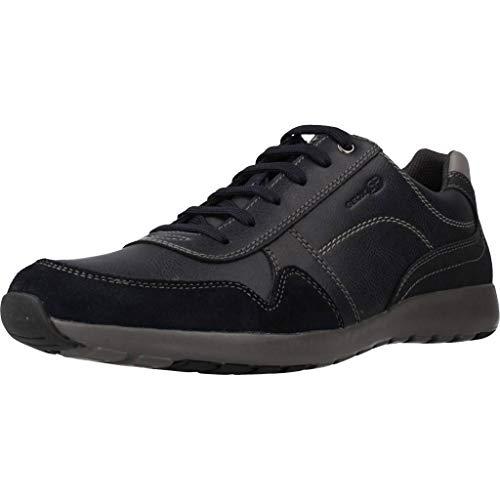 Bleu (C4002) 44 EU Geox Chaussures de Ville, Couleur Bleu, Marque, modèle Chaussures De Ville U Jepson B Bleu