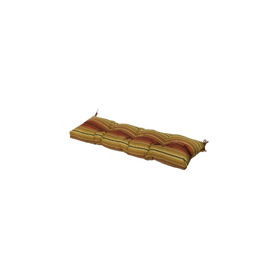 Greendale Home Fashions Indoor/Outdoor Bench Cushion, Kinnabari Stripe, 51 Inch