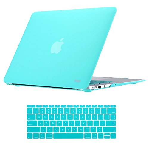 Macbook Air 13 inch Case Soft Finish Protective Hard Slim Case with Keyboard Cover for 13-inch MacBook Air Laptop Computer (Model: A1466/A1369) - Turquoise (Computer Protective Cover compare prices)