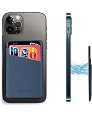 doeboe Compatibel met Magsafe Wallet iPhone 13 12 Pro Max, lederen kaarthouder voor achterkant van iPhone 13 12, magnetische creditcardportefeuilles voor iPhone 13 12 Mini Pro, Mag Safe Accessoires (blauw)