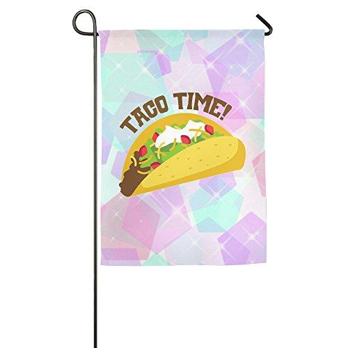 Garden Flag TACO TIME Tacos Love Decorative Flags Unique
