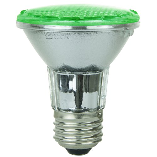 Sunlite 80002-SU PAR20/36LED/2W/G LED 120-volt 2-watt Medium Based PAR20 Lamp, Green (Bulbs Light Compact Fluorescent Recycling)