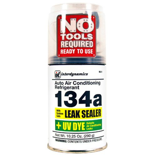 Interdynamics EZ Chill Refrigerant R-134a With Leak Sealer & UV Dye (10.25 ounces)