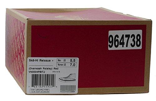 Vans Unisex-Erwachsene Sk8-Hi ReissuePlus Low-Top Rot (overwash Paisley/red)