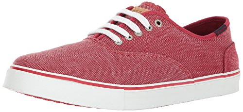 Sebago Nolan Lace Up, Náuticos Para Hombre Rojo (Red Canvas)