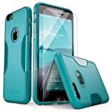 iPhone 6 Case, iPhone 6s Case Aqua Teal SaharaCase with Tempered Glass Screen Protector Shock-Absorption TPU Rubber Bumper Reinforced Hard Plastic Framefor Apple 6/6s 4.7' (Aqua Teal)