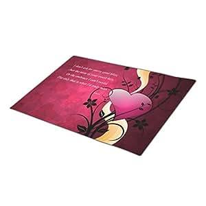 Bestgoon Modern Door Mat Heart Funny Doormats Emotion Door Mate Love