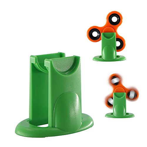ChasBete New Amazing Fidget Spinner Stand Best Accessory For Tri-spinner Hand Toys-Cool Stylish Strong Display Holder Organizer For Desk-Handsfree Stress- Relieving Spinning, Green