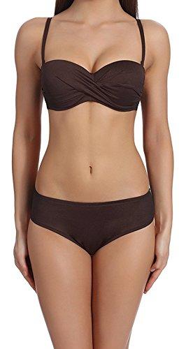 Brown Bikini Swimsuit - 7