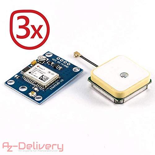 AZDelivery SIM 900 GPRS/GSM Shield + módulo GPS + SIM 808 + Ethernet Shield con libro electrónico gratuito. 3x GPS Modul: Amazon.es: Informática