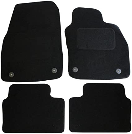 Black JVL Fully Tailored 4-Piece Car Mat Set 4 Clips