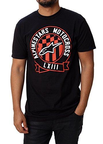 ALPINESTARS Men's MX Ribbon T Shirt, Black, XX-Large