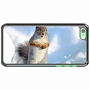 Customized Apple iPhone 5C PC Hard Case Diy Personalized DesignCover squirrel snow stand White