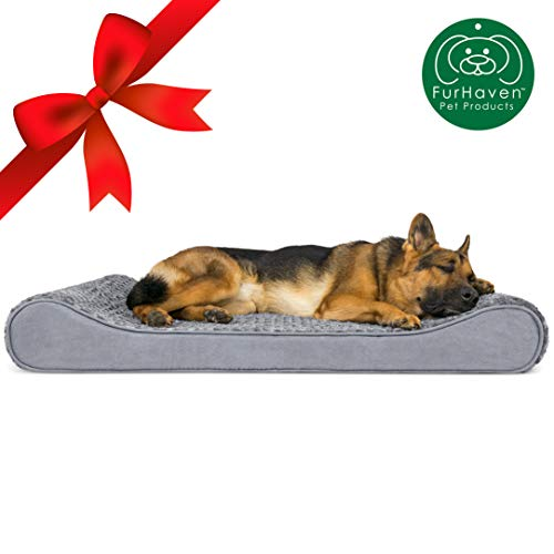 Furhaven Pet Dog Bed | Orthopedic Ultra Plush Faux Fur...