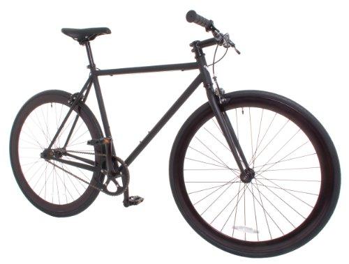 Vilano Rampage Fixed Gear Fixie Single Speed Road Bike, Matte Black, Small/50cm (Vilano Bike Fixie)