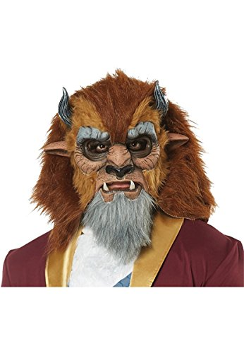 Beast Man Costume (Mens Storybook Beast Prince Costume Mask)