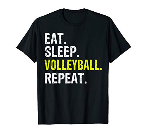 (Funny Eat Sleep Volleyball Repeat Gift T-Shirt)