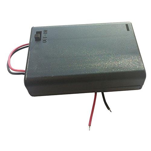 5x Batteriehalter-Gehä use, fü r 3x AA (Mignon), mit Schalter und Anschlusslitzen WITTKOWARE