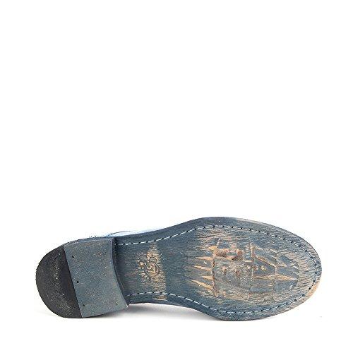 Felmini - Zapatos para Mujer - Enamorarse com Bomber 8349 - Zapatos con cordones - Cuero Genuino - Azul - 0 EU Size Azul