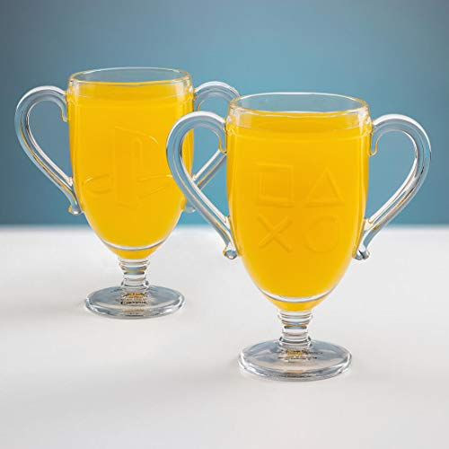 - Paladone PlayStation Trophy Shaped Drinking Glass with PlayStation Icons