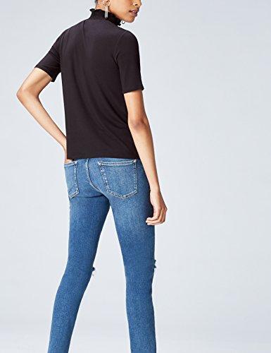 FIND Nero Shirt Donna T Nero nfwqfTF0r
