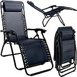 Amazon Com Folding Lounge Chair Leisure Beach Recliner Beach Chair With Pillow Brown