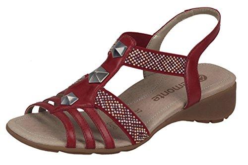 Remonte R5270-33 - Sandalias de vestir para mujer Rojo